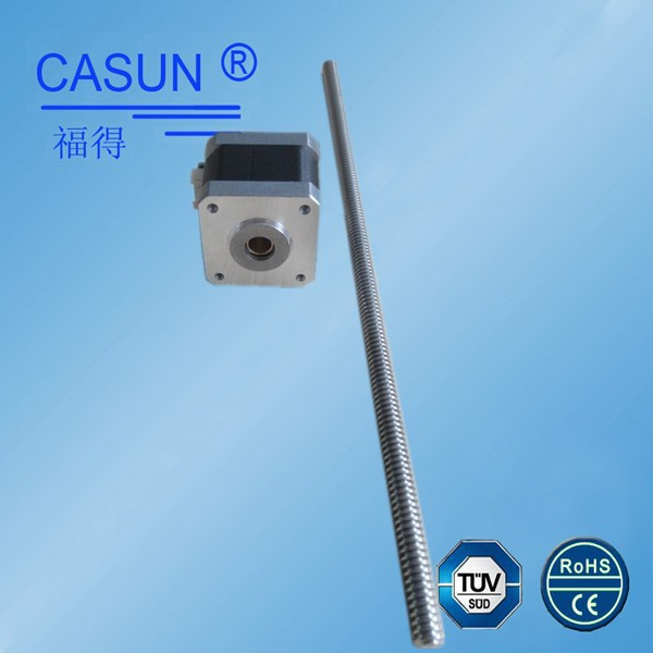 Casun 42mm size 1.2A hybrid nema 17 non-captive linear stepper motor with screw 300mm for 3d printer