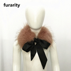 SF0410 Genuine Fox Fur Scarf for Kids