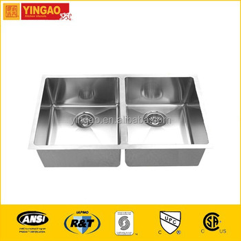 RR3219A Undercoating brushed stainless steel vessel sink