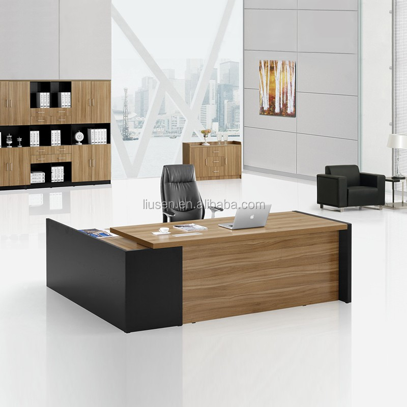 Luxury Boss Design Office Furniture Wooden Modern L Type ...