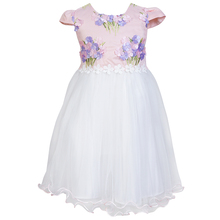 2018 summer flower girl dress applique 7 years old daily wear dresses for girls