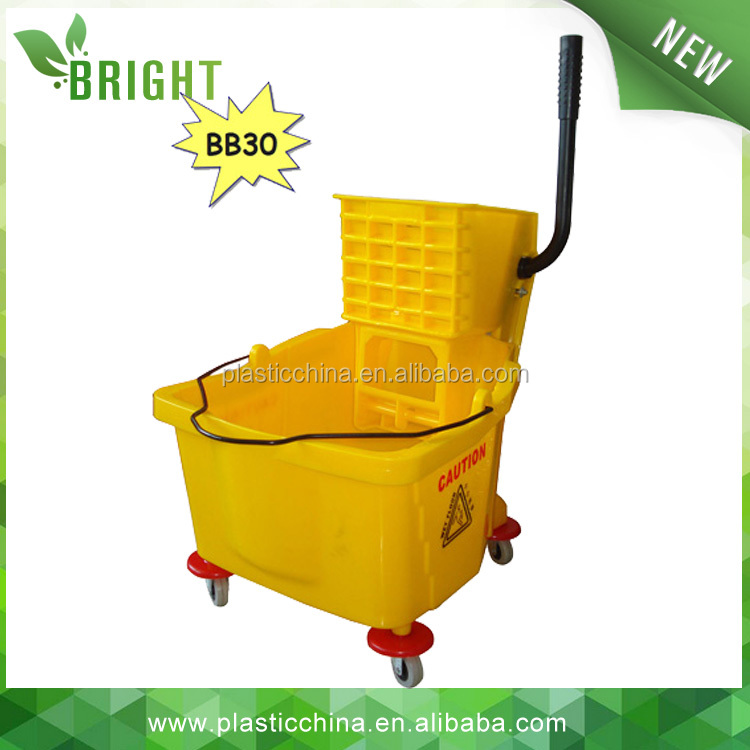 30LT BB30 Wheeled Floor Washing Double Mop Bucket with Wringer