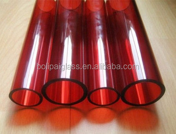 Red Colored Borosilicate Glass Tube Buy Colored