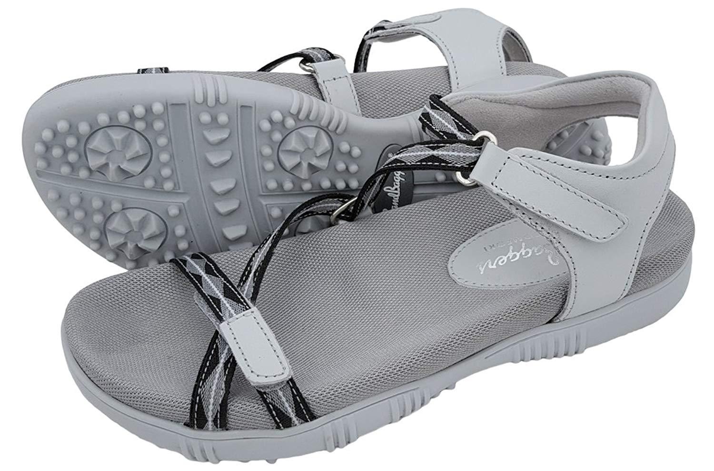 d5fd43df4536 Get Quotations · Sandbaggers Galia Women s Golf Sandals
