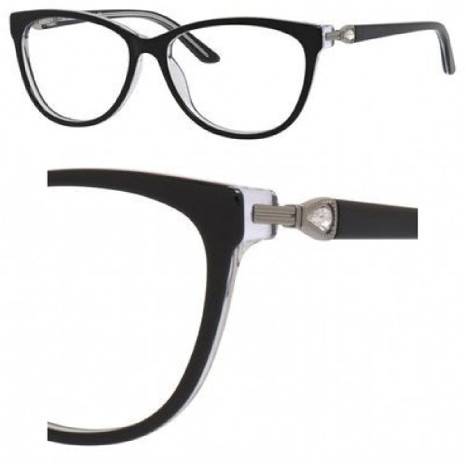 Eyeglasses Saks Fifth Avenue 302 0JXF Black Crystal