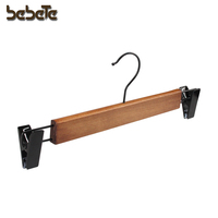 10 PACK High Quality Mahogany color Wood skirt,pants,trouser hangers with Clips