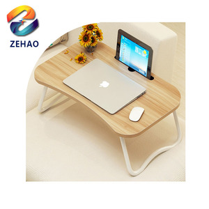 Eco-friendly Bamboo foldable bed laptop computer table