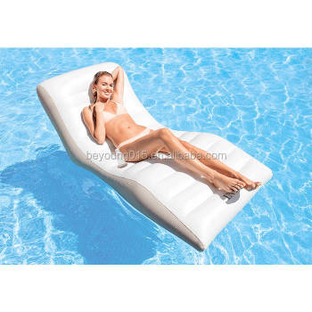 2017 New Intex Wave Lounge Inflatable Pool Lounge Chair With Cup Holder  Water Ground