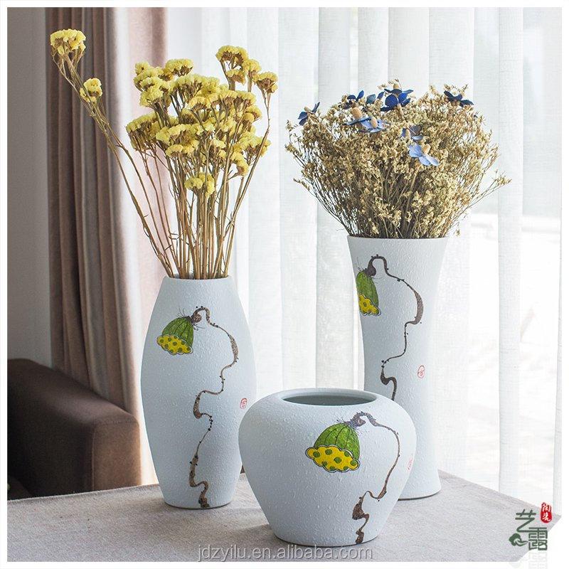 Venta al por mayor jarrones pintados al oleo compre online - Moderne glasvasen ...