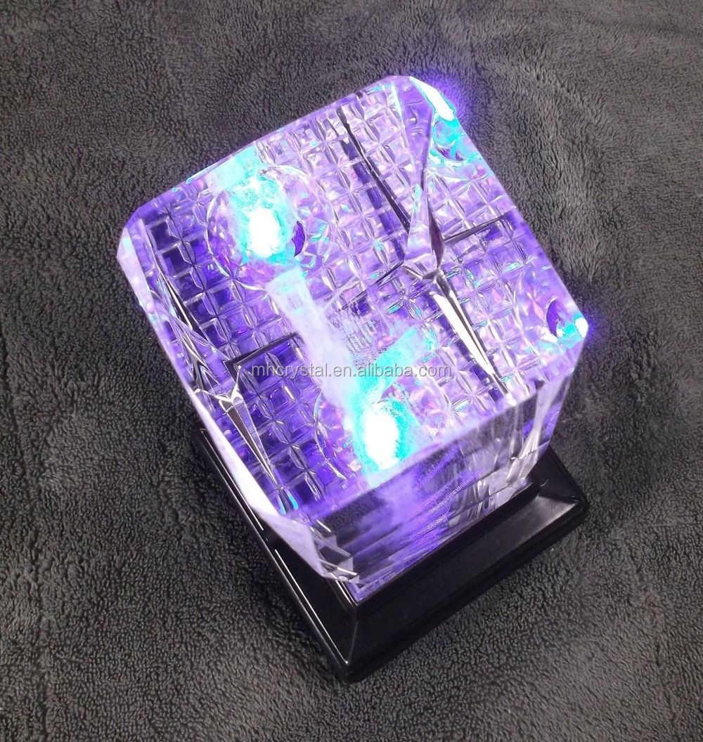 3d Laser Etched Crystal Cross Bible Praying Hands With Led
