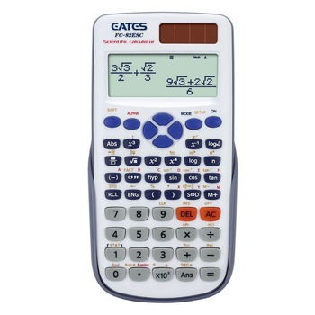 EATES Original Back to school  Scientific Calculator 2 Line Display 10+2 Digital  Student Desk Top Calculator