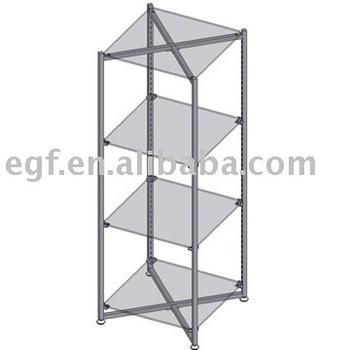Glass Storage Rack / Glass Display Shelf Unit