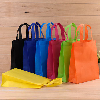 Factory cheap price many colors heat seal non woven shopping bag