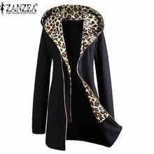 Elegantný dámsky zimný kabát s leopardím vzor vo vnútri