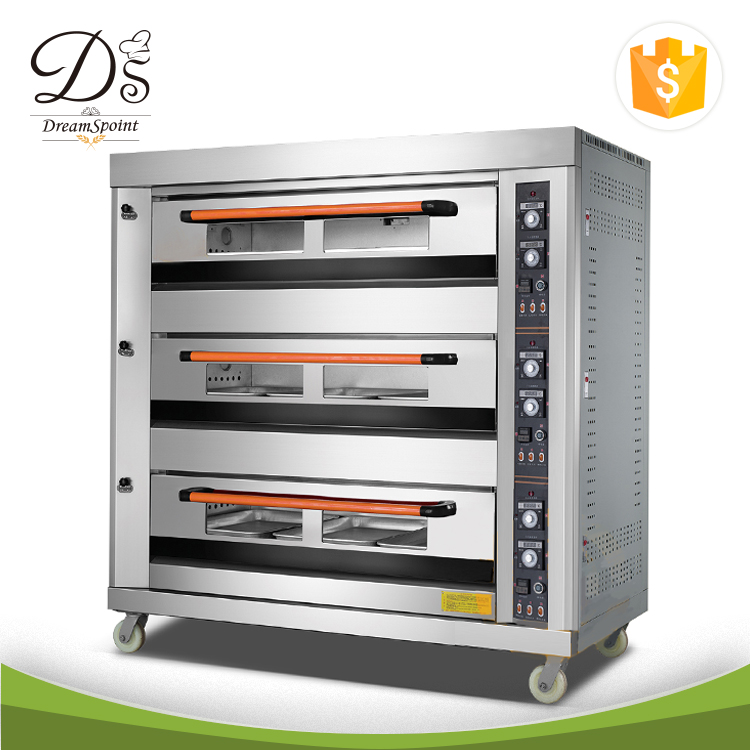 French Bread Baking Stainless steel Ovens bread oven 3-deck 9-tray gas