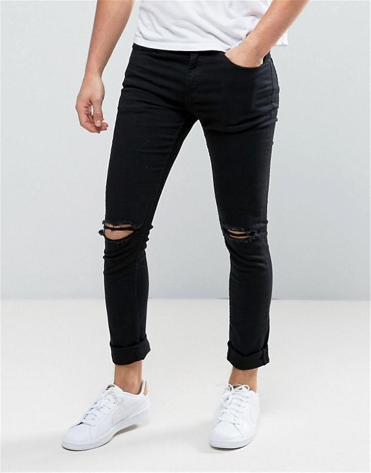 c9feaabc87 España skinny 95% algodón 5% spandex de moda rotos de lejía mezclar tamaños  streetwear