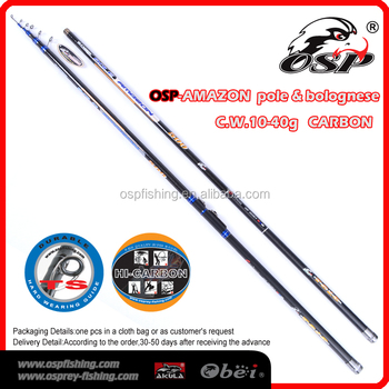 Pole & Bolognese Fishing Tackle C.W.10-40G OEM High Carbon Fishing Rod