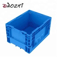 Custom design heavy duty stacking foldable plastic storage box for cargo transport