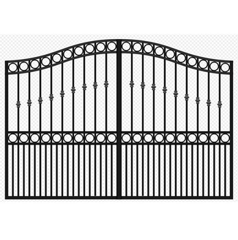 Favorito Powder Coated High Security And Beautiful Wrought Iron Gates UN78