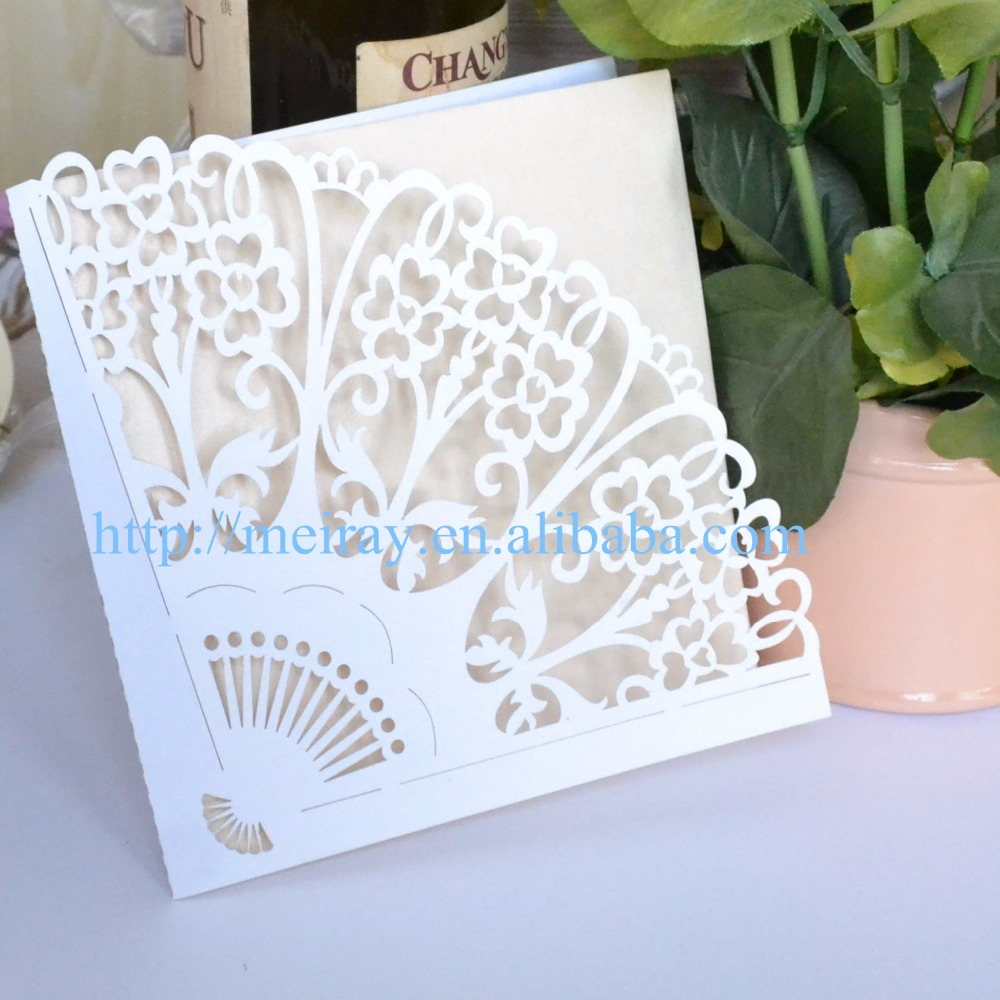 The Fan Design Luxury Wedding Party Festival Decoration Laser Cut ...