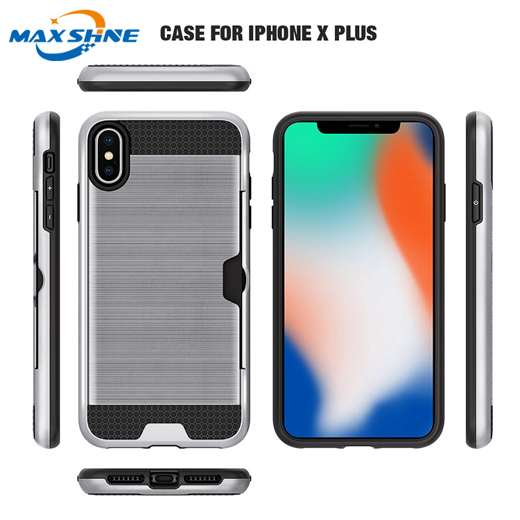 Hard brushed Slim protective case for iphone xs max, shockproof cell phone covers for iphone xs max