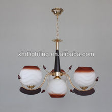 hot sell in africa pendant lightings traditional glass chandelier 6822-3+1