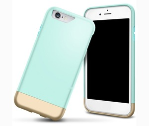 Double color 2 in 1 spell color protective case for iphone 6plus 5.5 inch two pieces to keep it thin