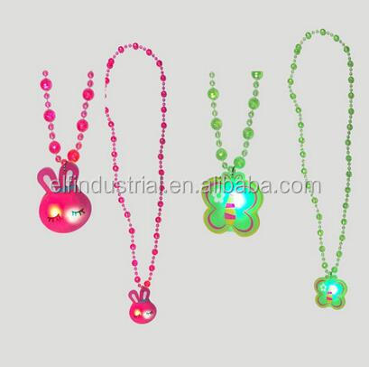 Event & Party Supplies Type and Party Decoration LED Flashing Beads Plastic Necklace with pendant for Easter
