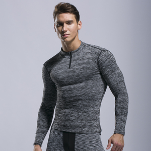 Wholesale Bodybuilding Clothing Mens Long Sleeve Compression Shirt