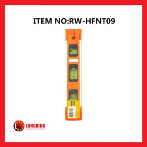 Factory Supply Mini plastic torpedo bubble spirit level rw-hfnt09