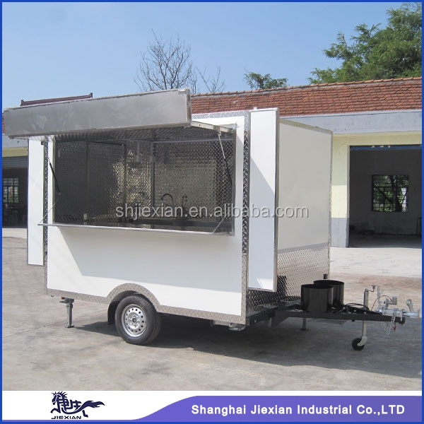 JX-FS280A Solid Stainless Steel Outdoor Street mobile sandwich vans for sale
