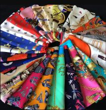 OEM Custom Printed Women Satin Silk Scarf