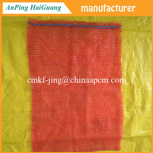 packing net bags PE knitted mesh bag for packing potato/onion/cabbage