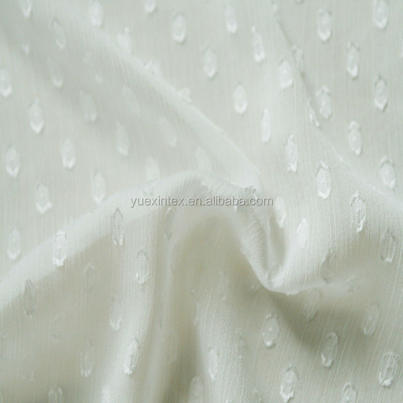 snuff polyester wrinkle chiffon yoryu fabric for garment