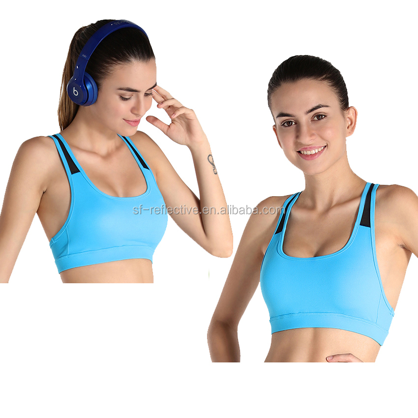 top custom comfortable sports bra OEM private label fitness wears strappy crisscross back comfort sports fashion bra