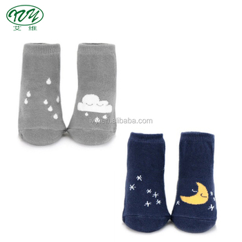 50pairs/lot small wholesale winter season thicker cloud star design cotton kids 0-4Y girls boys baby socks anti slip