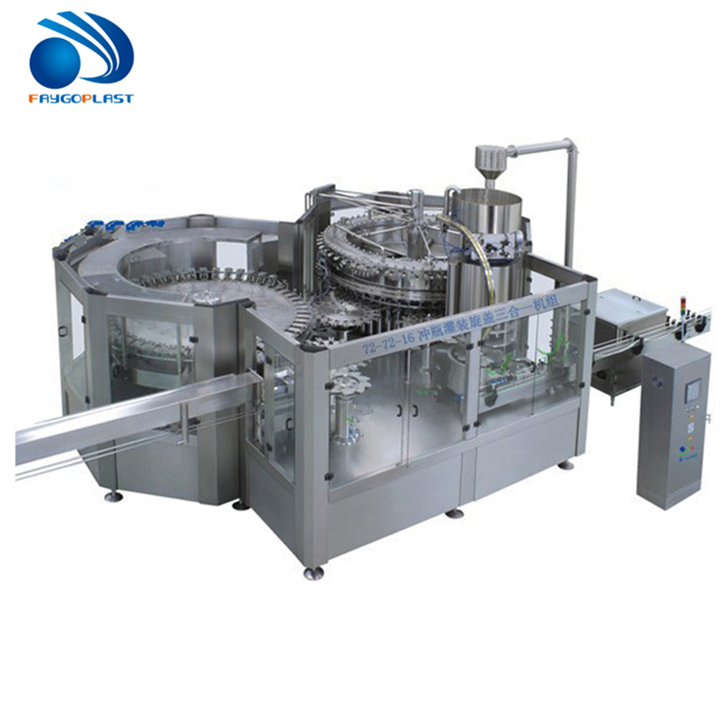 Automatic 3 in 1 Iced Tea Filling Machine/Filling Plant/Monoblock