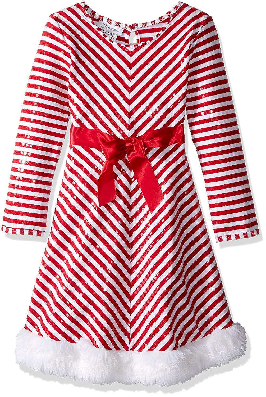 54377b3c2470 Get Quotations · Bonnie Jean Big Girls  Santa Dresses