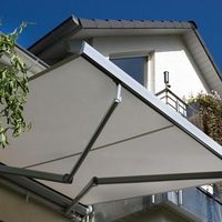 Canopy awning folding retractable awning