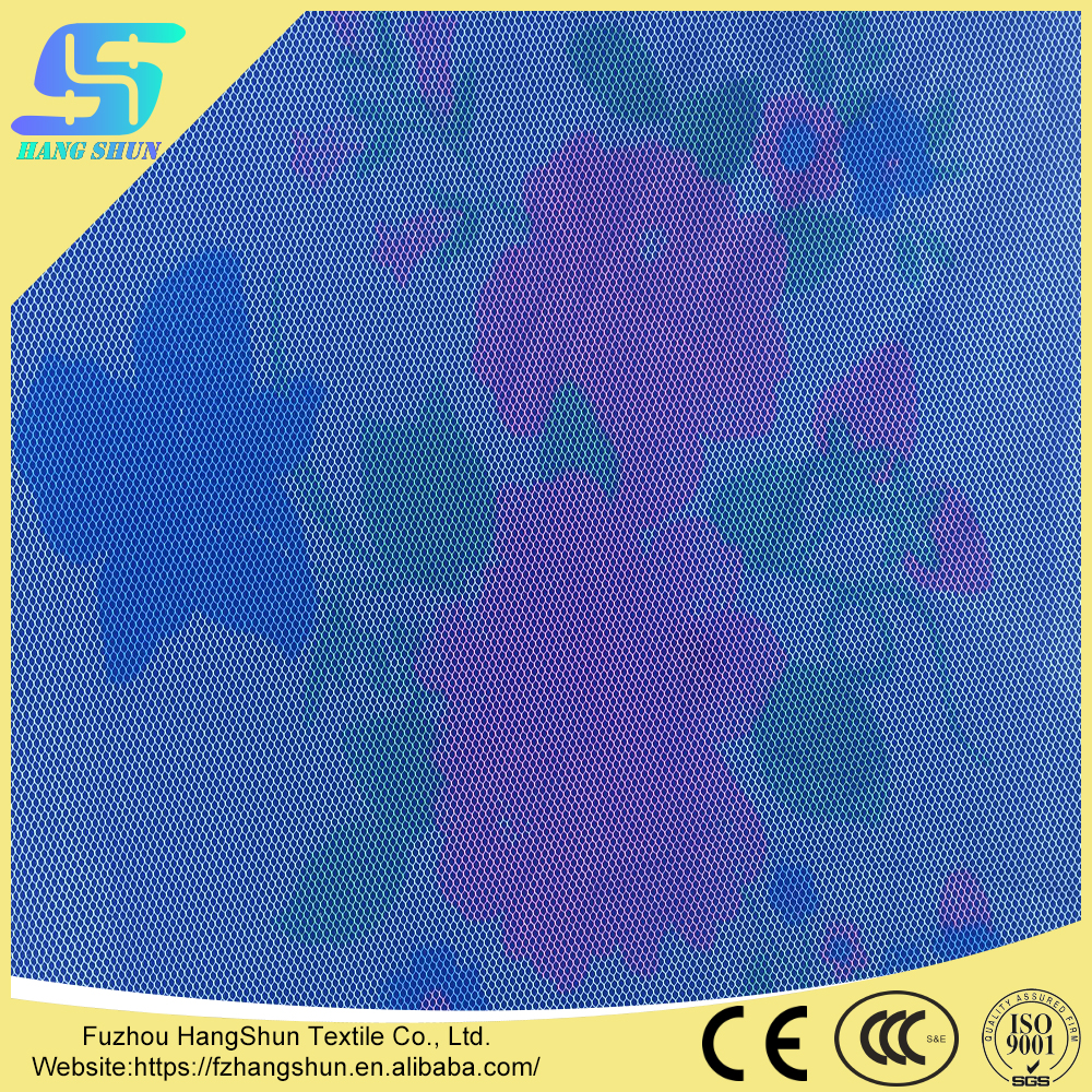 Polyester Printing Hexagonal Jaquard Fabric For Mosquito Net