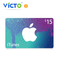 Full Color Printing wholesale gift card $15 google play gift card