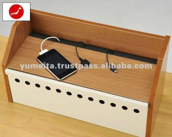 Power Charging Station with Cable Storage Box for Your Office