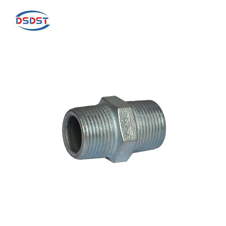 "1//4/"" BSP hexagonal tubo montaje de Hierro Maleable Negro de pezón"