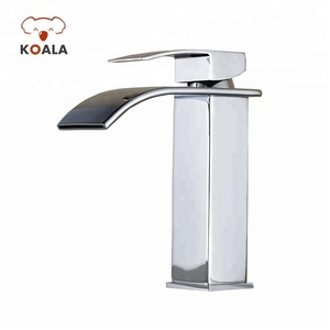 CUPC Brass Single Hole Lavatory Bathroom Waterfall Wash Basin Faucet