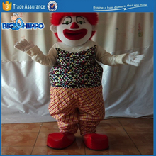 Happy cicus clown fun park joker jester high quality custom mascot costume