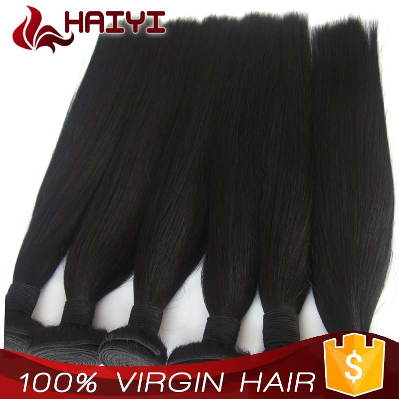 Double drawn tangle free 100 human unprocessed human 24 inch virgin remy brazilian hair weft