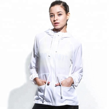 New Arrival sportswear  White Color Wholesale Fitness Women Jackets