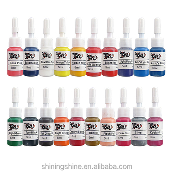 Wholesale 5ml Free Tattoo Ink Set Tattoo Pigment Ink Include 20 Colors