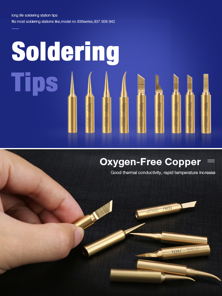 Golden Lead-free Welding Tips Soldering Iron Tip for Soldering Curved Type