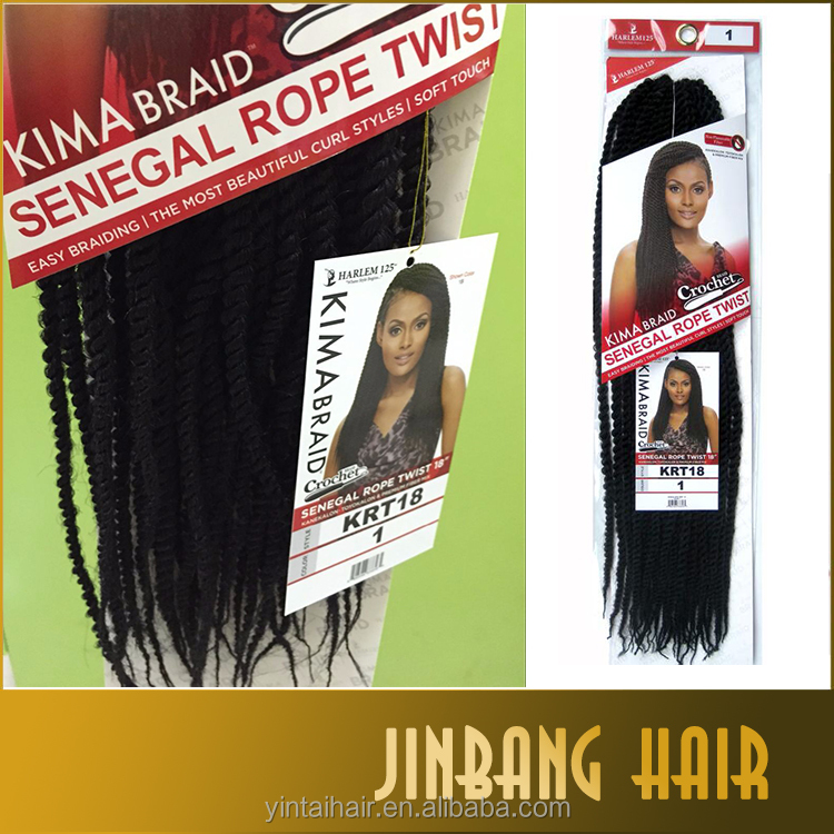 Wholesale synthetic crochet braid hair kima braid senegalese twist hair